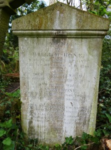 William Hone Tombstone Abney Park (c) Dr Tony Shaw
