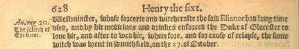 Annals of England to 1630 Margery Jourdemayne burned