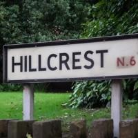 Hillcrest street sign (c) Dave Milner