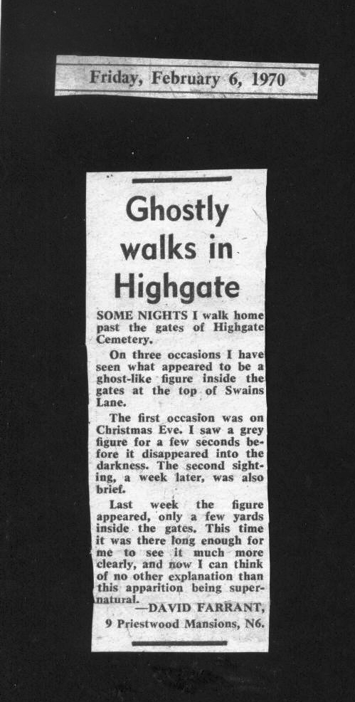 Letter Ham and High Orig letter 6th Feb and The Ghost of N6 13th Feb 1970