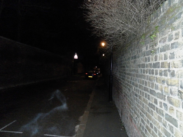 Photograph No.31 A shot of Swains Lane (just yards from (and to the left) of the North Gate. Take a look at the bottom left where  you see the same wispy anomaly but this time with an almost serpentine shape and arrangement. (c) Redmond McWilliams