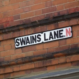 Swains Lane street sign (c) Dave Milner
