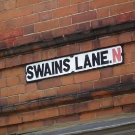 Swains Lane street sign (c) Dave Milner