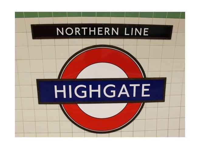 Tube sign Highgate station