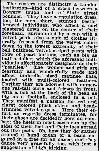 Costers - The Deseret News 25th Dec 1897
