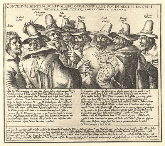 he Gunpowder Plot Conspirators, 1605, by unknown artist
