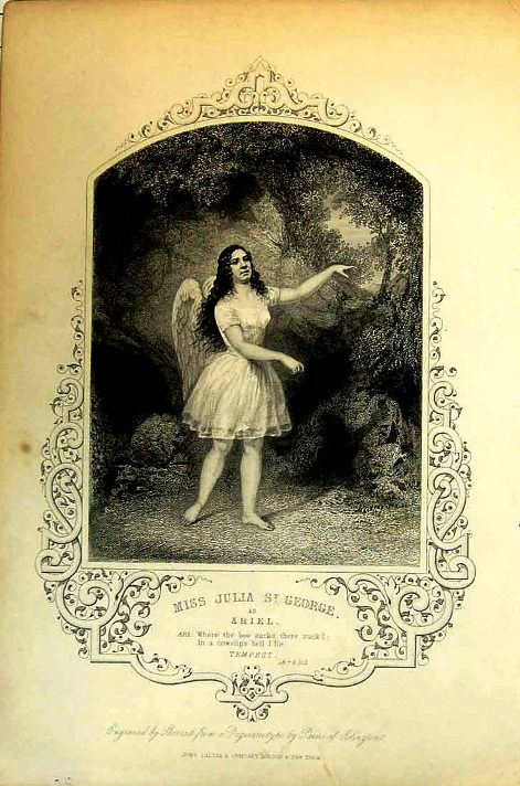 Miss Julia St George playing Ariel in The Tempest