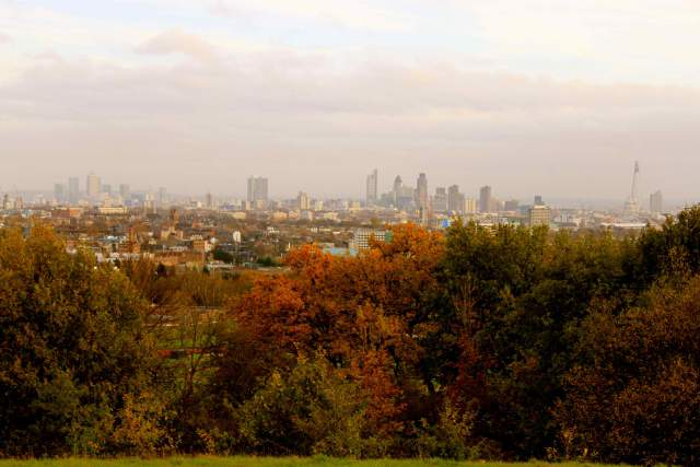 Modern view of London from Parliament Hill