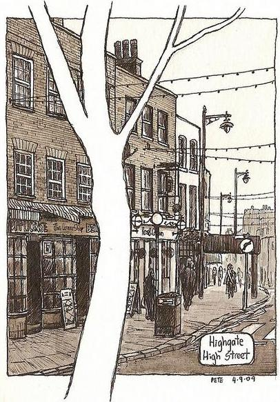 Highgate High Street - (c) Pete Scully