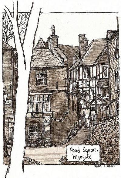 Pond Square Highgate - (c) Pete Scully