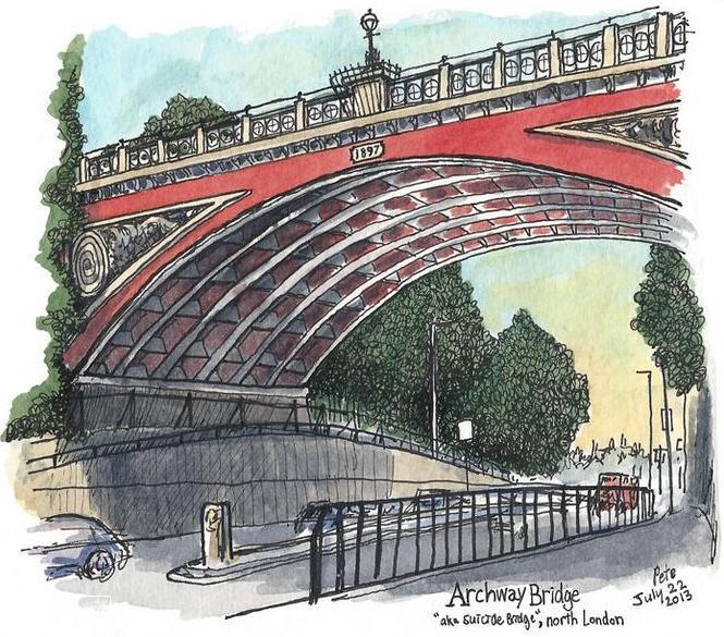 Suicide Bridge Archway - (c) Pete Scully