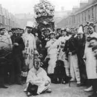 Jack in the Green surrounded by May Day revellers, 1st May 1906, Deptford. With thanks to John from The Computus Engine.