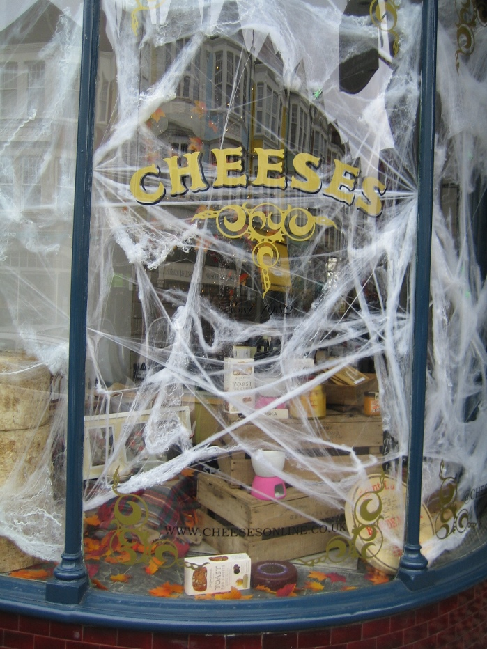 Cheeses of Muswell Hill Halloween display 2014
