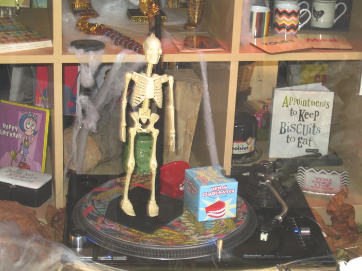 Crocodile Antiques Muswell Hill Halloween display 2014 2