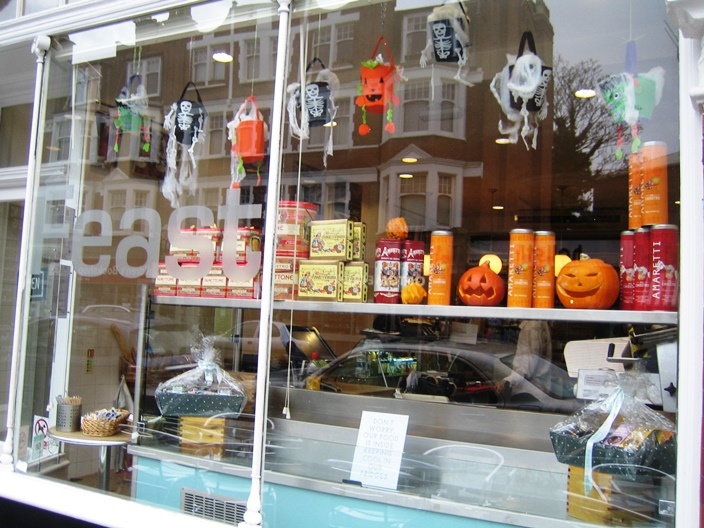 Feast Cafe Muswell Hill Halloween display 2014
