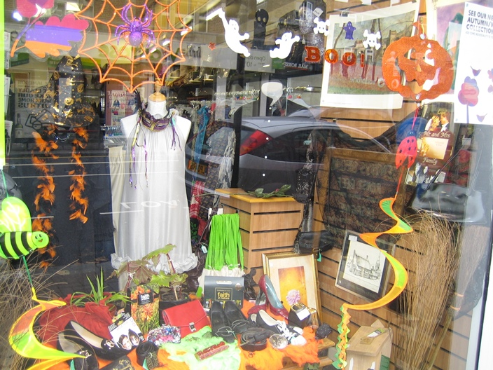 Oxfam Shop Muswell Hill Halloween display 2014