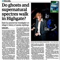 Do ghosts and supernatural spectres walk Highgate Haunted Highgate Della Farrant Ham and High 06 11 2014