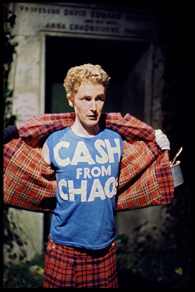 Malcolm McLaren Cash from Chaos still from The Great Rock n Roll Swindle (c) John Tiberi