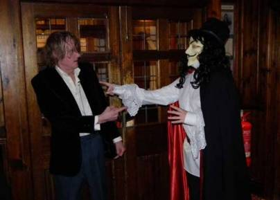 The Gatehouse ghost makes an appearance at a Hallowe'en event organised by North London Paranormal Investigations (c) Dave Milner