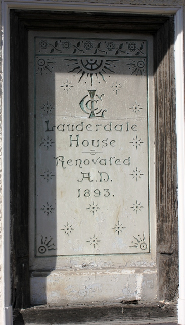 Stone tablet at Lauderdale House (c) Max Sycamore