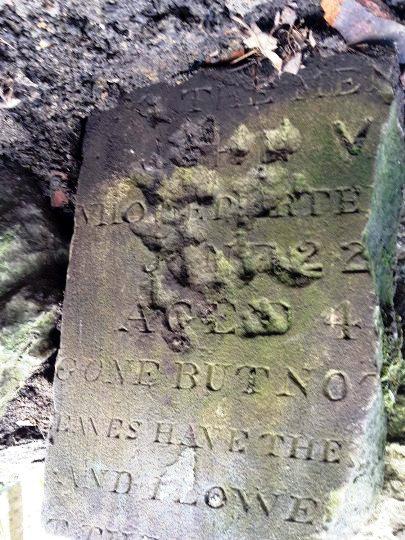 John V gravestone found at Flask (c) Glyn Morgan