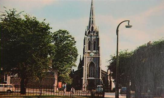 St Michael's Church from near The Flask